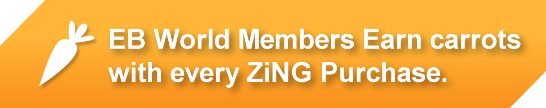 EB World members earn carrots with every ZiNG purchase